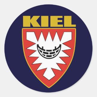 COA de Kiel Pegatina Redonda