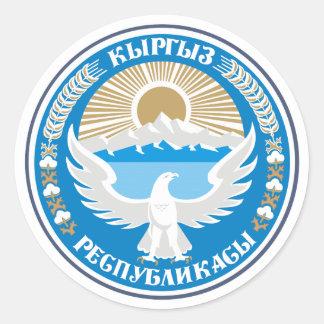 COA de Kirguistán Pegatina Redonda