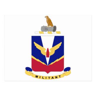 COA de la escuela de la artillería de la defensa Tarjeta Postal