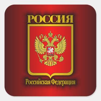 COA de la Federación Rusa Pegatina Cuadrada
