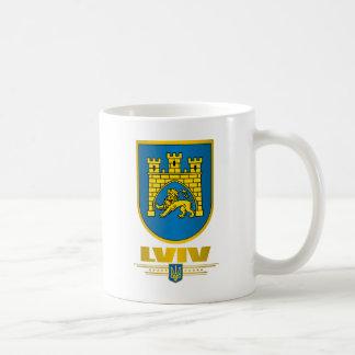 COA de Lviv Taza Básica Blanca