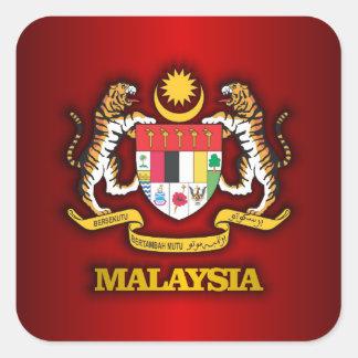 COA de Malasia Calcomanía Cuadrada Personalizada