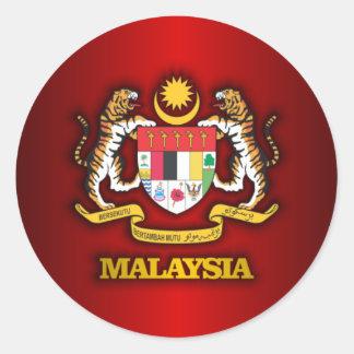 COA de Malasia Etiquetas Redondas