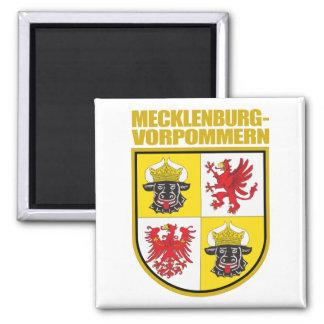 COA de Mecklemburgo-Pomerania Occidental Imán Cuadrado