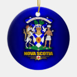 COA de Nueva Escocia Adorno Navideño Redondo De Cerámica