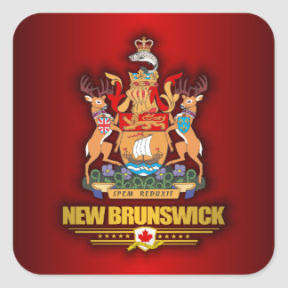 COA de Nuevo Brunswick Pegatina Cuadrada