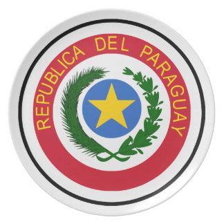 """""""COA de Paraguay """" Plato Para Fiesta"""