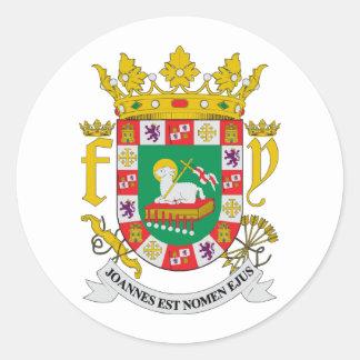 COA de Puerto Rico Pegatina Redonda
