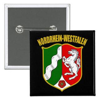 COA de Renania del Norte-Westfalia Pin Cuadrada 5 Cm