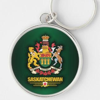COA de Saskatchewan Llavero Redondo Plateado