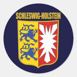 COA de Schleswig-Holstein Pegatinas Redondas