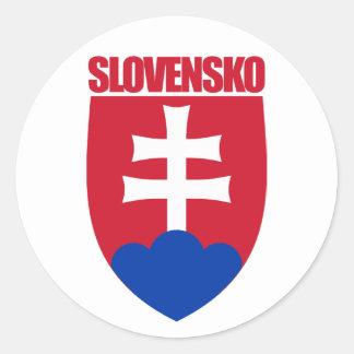 COA de Slovensko/de Eslovaquia Pegatina Redonda