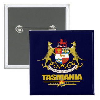 COA de Tasmania Pin Cuadrada 5 Cm