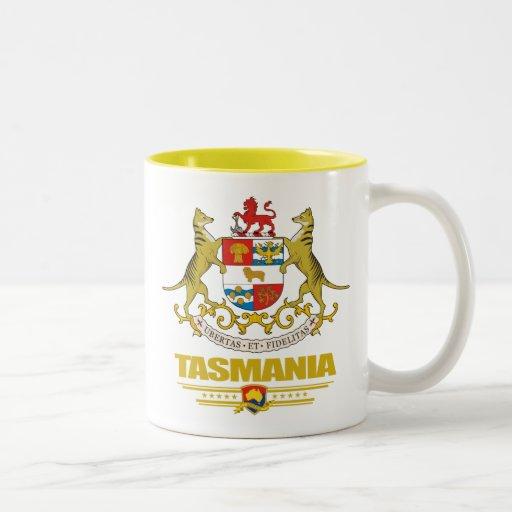COA de Tasmania Taza De Café De Dos Colores