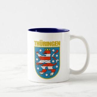 COA de Thuringen (Thuringia) Taza De Dos Tonos