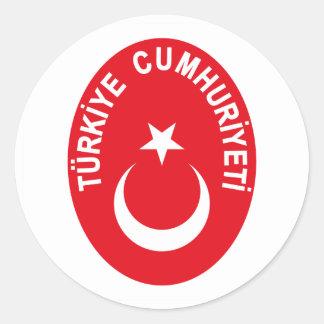 COA de Turkiye (Turquía) Pegatinas Redondas
