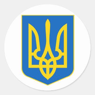 COA de Ucrania Pegatina Redonda