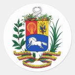 COA de Venezuela Pegatina Redonda