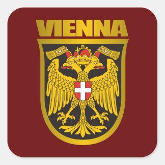 COA de Viena (siglo XIX) Pegatina Cuadrada