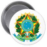 COA del Brasil Pin Redondo De 4 Pulgadas