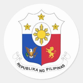 COA filipino Pegatina Redonda