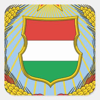 Coa_Hungary_Country_History_ (1957-1990) Pegatina Cuadrada