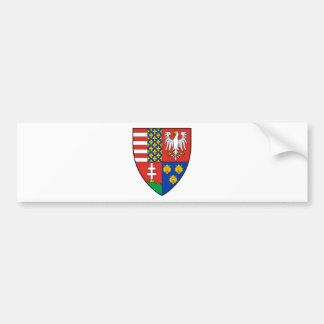 Coa_Hungary_Country_History_Lajos_I_ (1370) Pegatina Para Auto