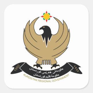 COA kurdo Pegatinas Cuadradas Personalizadas