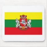 COA Mousepad de la bandera w de Lituania Alfombrillas De Ratones