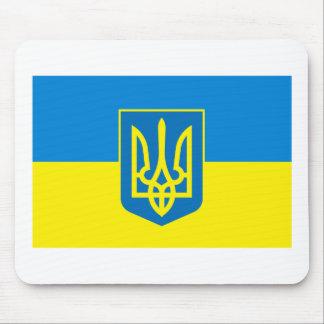 COA Mousepad de la bandera w de Ucrania