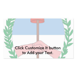 Coa Tucuman Province Argentina, Argentina flag Double-Sided Standard Business Cards (Pack Of 100)