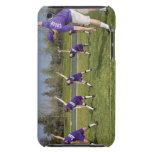 Coach and little league players stretching barely there iPod covers