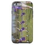 Coach and little league players stretching tough iPhone 6 case
