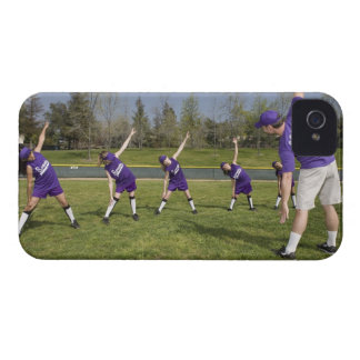 Coach and little league players stretching Case-Mate iPhone 4 case