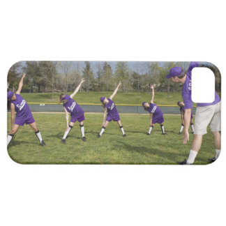 Coach and little league players stretching iPhone SE/5/5s case