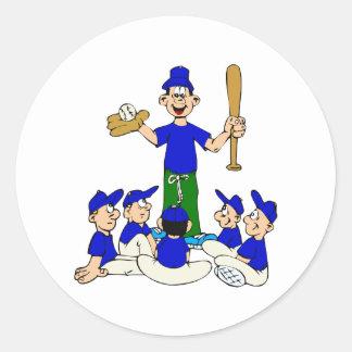 coach and team classic round sticker