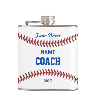 Coach Baseball Sport Flask