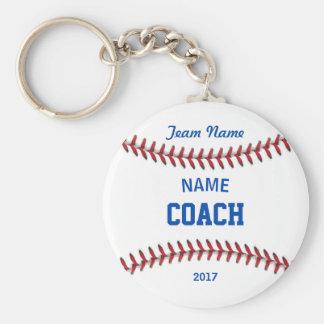 Coach Baseball Sport Keychain