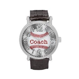 """""""COACH"""" Baseball Watches Men Coach Gifts under 50"""
