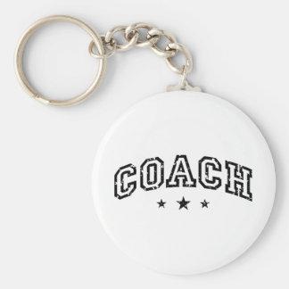 Coach Basic Round Button Keychain