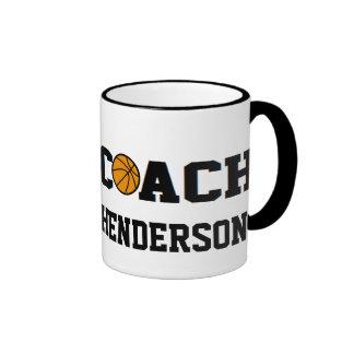 Coach- Basketball - Personalized Ringer Mug