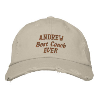 COACH Best Coach Ever Custom Name V05 Embroidered Hat