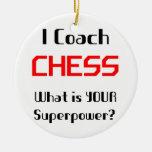 Coach chess ceramic ornament