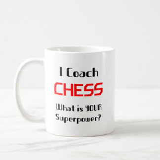 Coach chess coffee mug