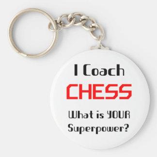 Coach chess keychains