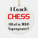 Coach chess Double-Sided ceramic round christmas ornament