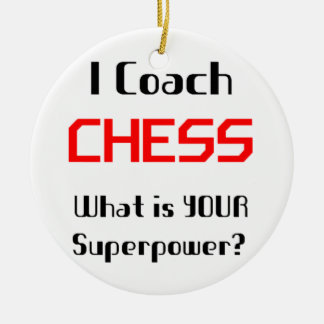 Coach chess christmas ornament