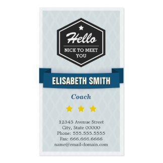 Coach - Creative Retro Stylish Double-Sided Standard Business Cards (Pack Of 100)