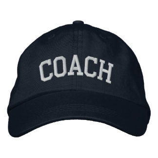 COACH EMBROIDERED BASEBALL HAT