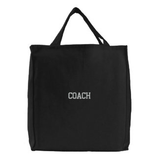 Coach Embroidered Canvas Tote Bag